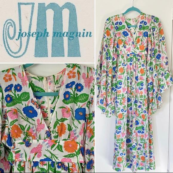 VINTAGE JOSEPH MAGNIN 60's-70's BOHO MAXI DRESS